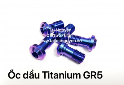 ỐC DẦU TITANIUM GR5