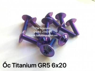 Ốc Titanium GR5 6x20