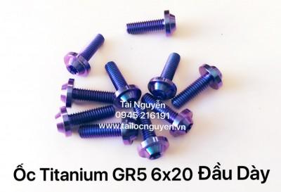 ỐC TTIANIUM GR5 6x20 ĐẦU DÀY