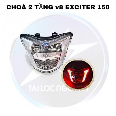 CHÓA ĐÈN 2 TẦNG V8 GẮN EXCITER 150
