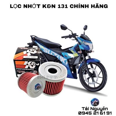 LỌC NHỚT K&N 131 CHÍNH HÃNG CHO RAIDER/SATRAI FI/FZ125/HAYATE
