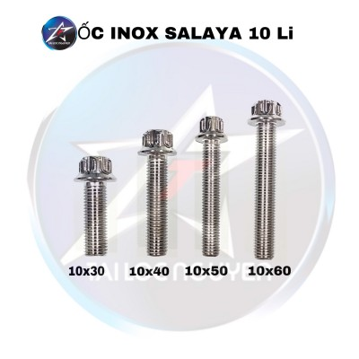 ỐC INOX SALAYA SIZE 10x30, 10x40, 10x50, 10x60