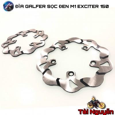 CẶP ĐĨA GALFER SỌC ĐEN M1 CHO EXCITER 150