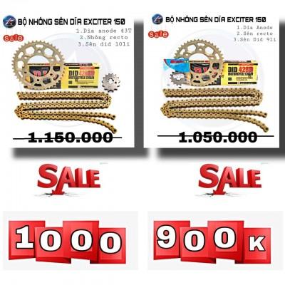 [SALE] BỘ NSD SÊN DID 9LI/10LI - DĨA NHÔM 7075 ANODE- NHÔNG RECTO CHO EXCITER 150