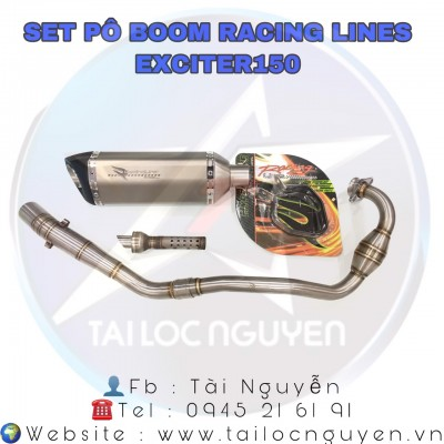 SET PÔ BOOM RACING LINES CHO EXCITER 135 - EXCITER 150