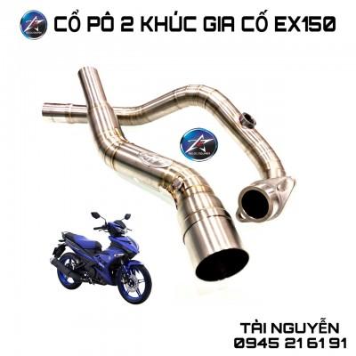 CỔ PÔ INOX 304 2 KHÚC FMF GẮN LON CHO EXCITER 150