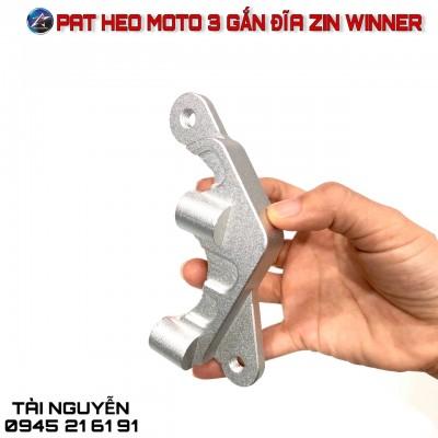 PAT HEO KIỂU MOTO 3 GẮN ĐĨA ZIN CHO EXCITER 150 - WINNER