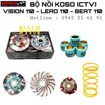 BỘ NỒI KOSO CHÍNH HÃNG CHO VISION 110 - LEAD 110- BEAT 110