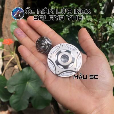 ỐC MÂM LỬA INOX SALAYA 5C CHO HONDA VÀ YAMAHA/EXCITER 150