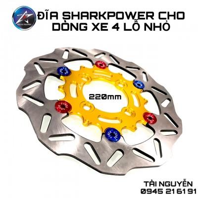 ĐĨA THẮNG TRƯỚC SHARK 4 LỖ SIZE 22m  DÀNH CHO Ex135,WAVE,AB..CÁC XE 4 LỖ PHÙ HỢP.