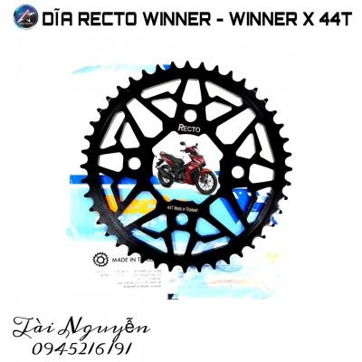 DĨA RECTO SIZE 44T CHO HONDA WINNER MẪU V2