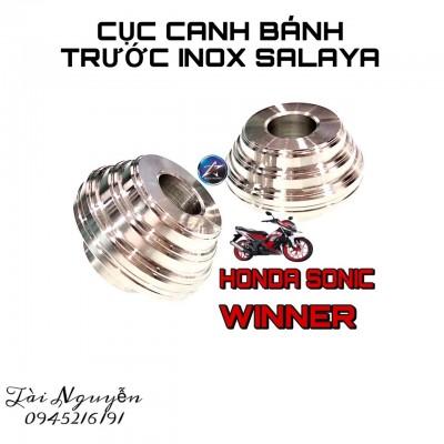 CHỤP CÓC TRƯỚC INOX SALAYA CHO EXCITER 150 VÀ HONDA WINNER/SONIC