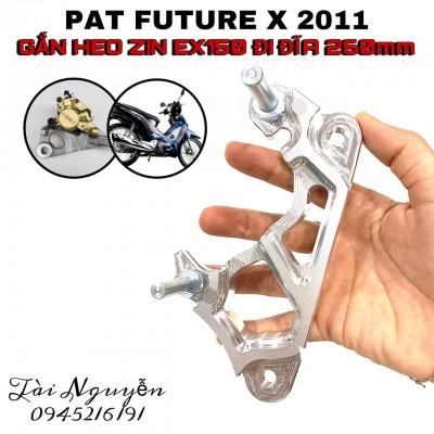 PAT FUTURE X 2011 GẮN HEO ZIN EX150 LÊN ĐĨA 260mm