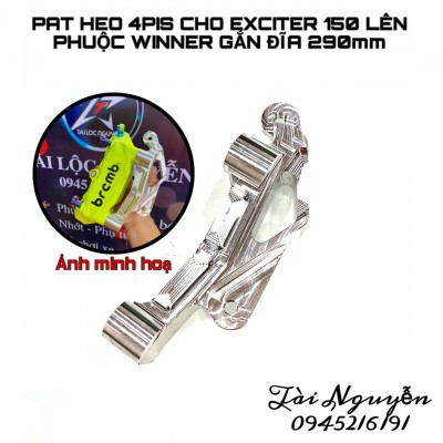 PAT HEO 4PIS CHO EXCITER150 LÊN PHUỘC TRƯỚC WINNER GẮN ĐĨA 290mm