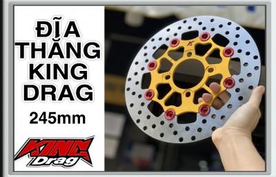 ĐĨA THẮNG TRƯỚC KING DRAG LÒNG NHÔM 4 LỖ 245mm