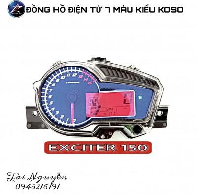ĐỒNG HỒ ĐIỆN TỬ 7 MÀU KIỂU KOSO CHO EX150