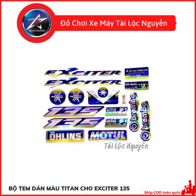 Bộ Tem Dán Màu Titan Dành Cho Exciter 135